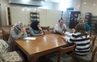 المكتبة المركزية تنظم ورشة عمل عن اعداد التقرير الشهري